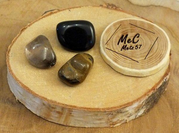 Pochette protection minéraux et cristaux