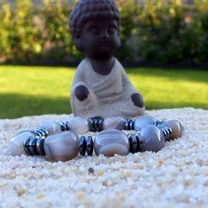 Bracelet agate du Bostwana mineraux et cristaux