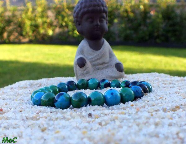 Bracelet chrysocolle mineraux et cristaux