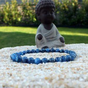 Bracelet cyanite bleue mineraux et cristaux