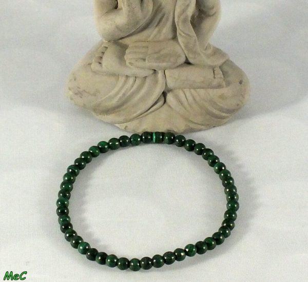 Bracelet malachite 4mm mineraux et cristaux