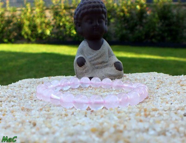 Bracelet quartz rose mineraux et cristaux