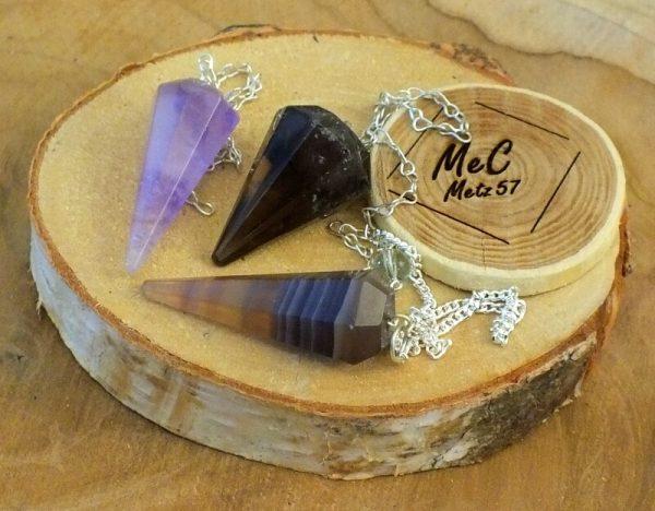 Pendule cône en pierre naturelle minéraux et cristaux