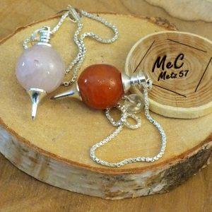 Pendule sphère en pierre naturelle minéraux et cristaux
