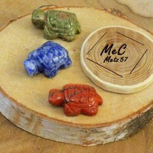 Tortue en pierre naturelle minéraux et cristaux