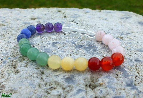 Bracelet 7 chakras mineraux et cristaux