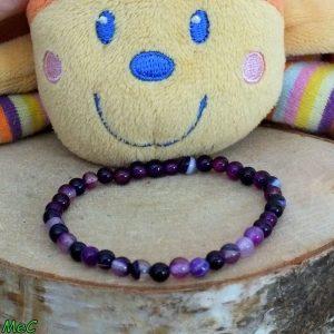 Bracelet améthyste enfant mineraux et cristaux