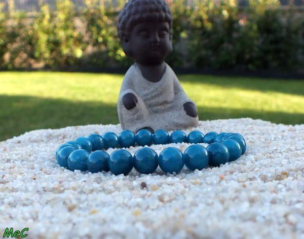 Bracelet apatite bleue mineraux et cristaux