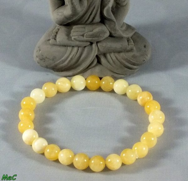 Bracelet calcite jaune mineraux et cristaux
