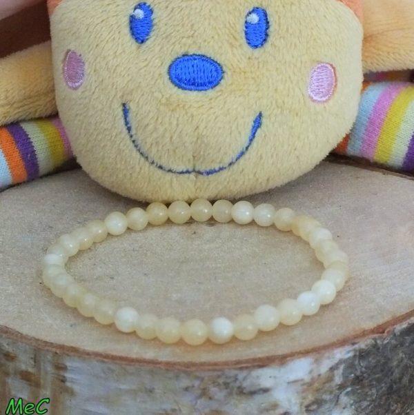 Bracelet calcite jaune enfant mineraux et cristaux