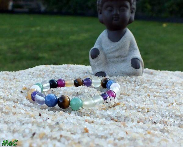 Bracelet chakra enfant mineraux et cristaux