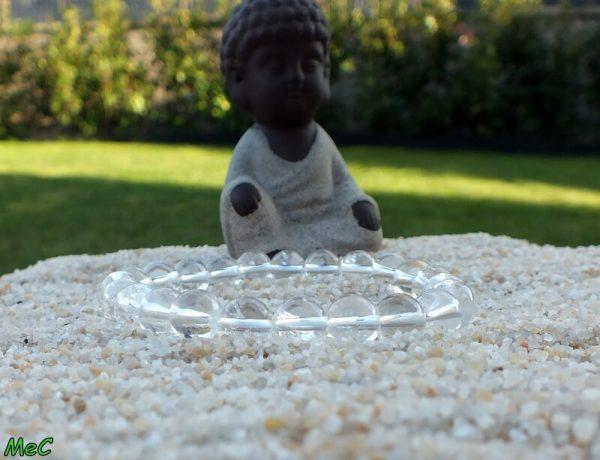 Bracelet cristal de roche mineraux et cristaux