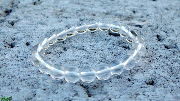 Bracelet cristal de roche enfant 1 mineraux et cristaux