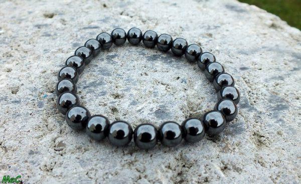 Bracelet hématite mineraux et cristaux