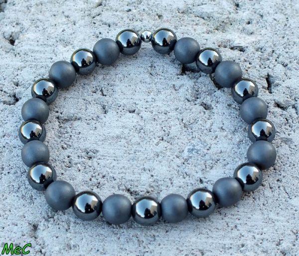 Bracelet hématite mat 1 mineraux et cristaux