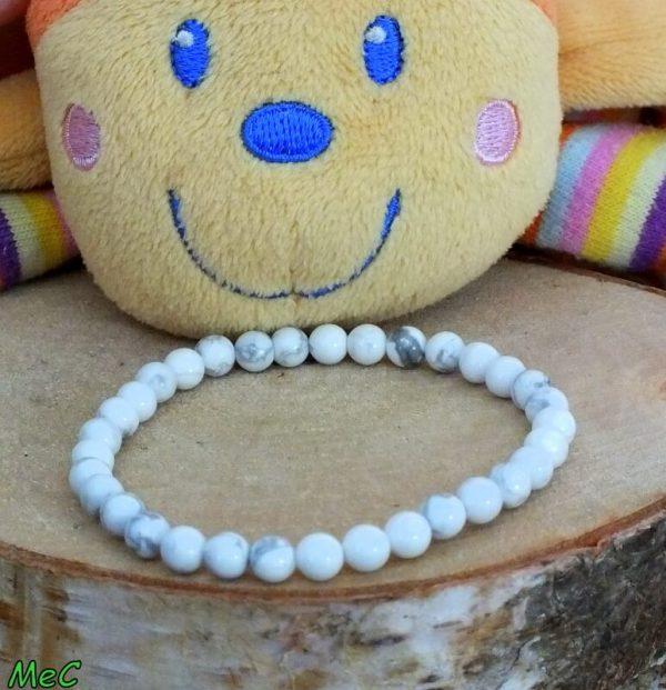 Bracelet howlite enfant mineraux et cristaux