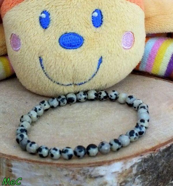 Bracelet jaspe dalmatien enfant mineraux et cristaux