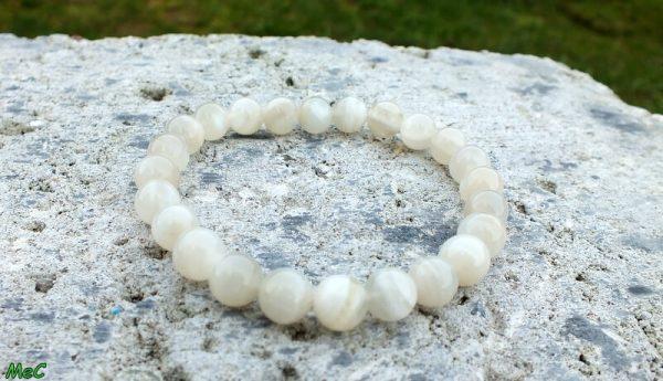 Bracelet pierre de lune mineraux et cristaux