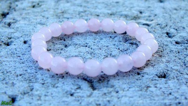 Bracelet quartz rose enfant mineraux et cristaux