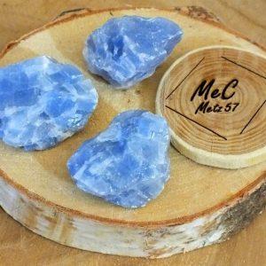 Calcite bleue pierre brute mineraux et cristaux