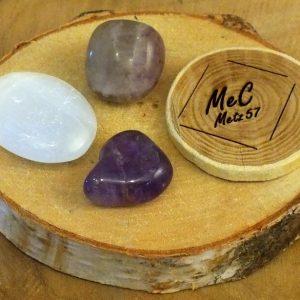 Pochette méditation mineraux et cristaux