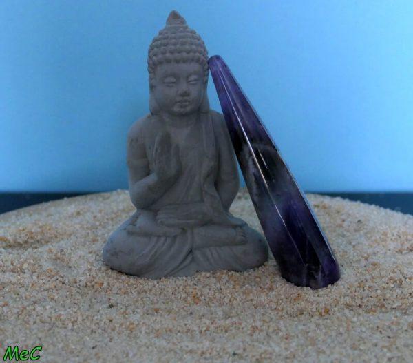 Bâton de massage améthyste minéraux et cristaux