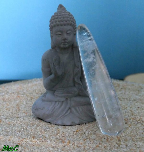 Bâton de massage cristal de roche minéraux et cristaux