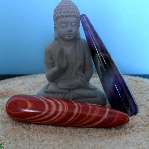 Bâtons de massage en pierres naturelles minéraux et cristaux