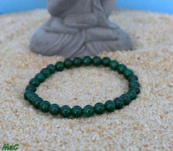 Bracelet agate verte minéraux et cristaux