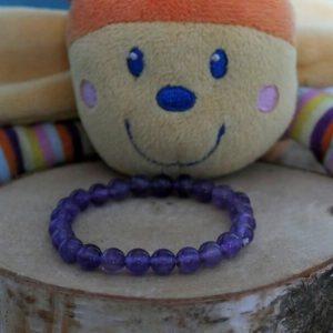 Bracelet améthyste enfant 6mm minéraux et cristaux