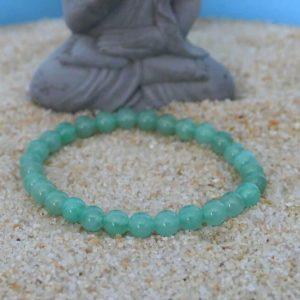 Bracelet aventurine verte 6mm minéraux et cristaux