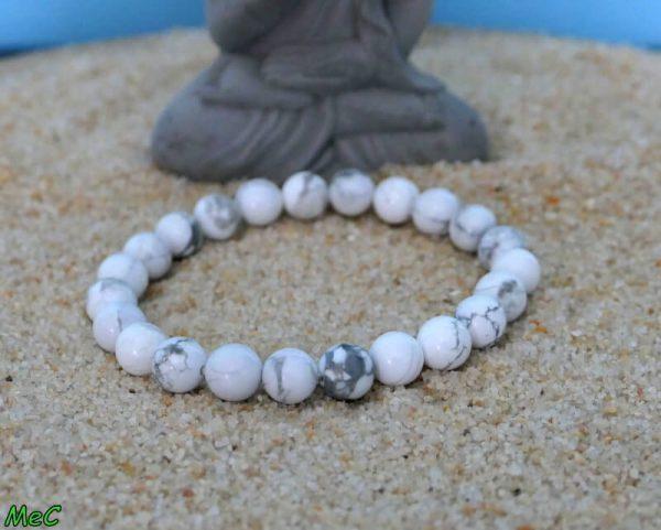 Bracelet howlite minéraux et cristaux