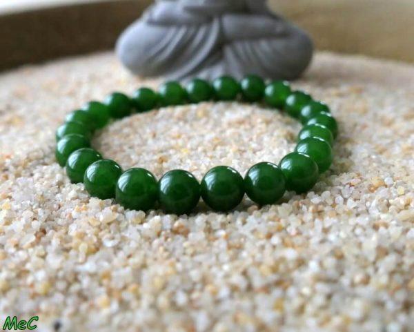 Bracelet jade néphrite mineraux et cristaux