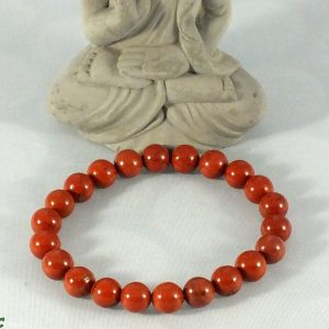 Bracelet jaspe rouge mineraux et cristaux