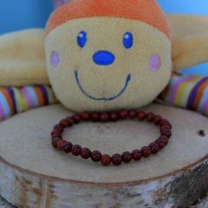 Bracelet jaspe rouge enfant minéraux et cristaux