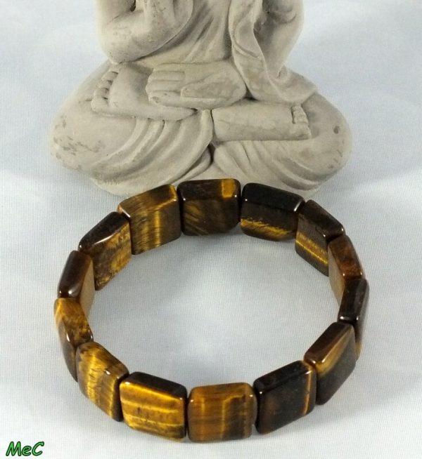Bracelet manchette oeil de tigre mineraux et cristaux