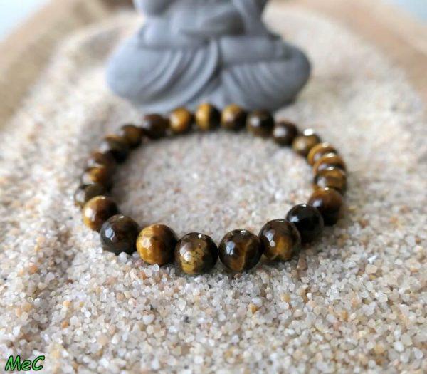 Bracelet oeil de tigre facetté minéraux et cristaux