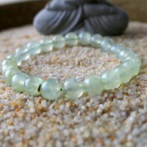 Bracelet préhnite mineraux et cristaux