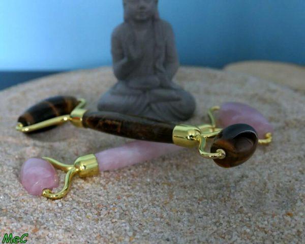 Rouleaux de massage minéraux et cristaux