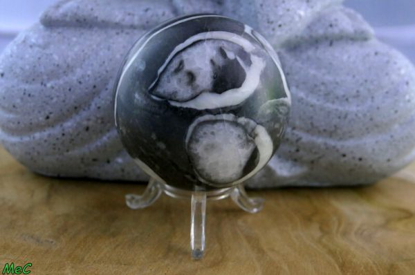 Sphère jaspe zébre minéraux et cristaux