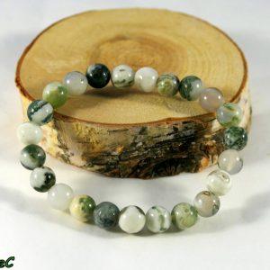 Bracelet agate mousse Minéraux et Cristaux