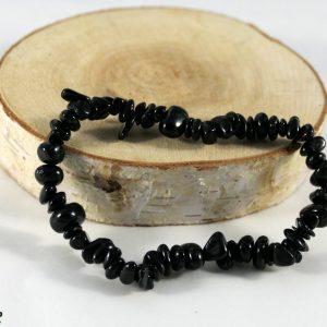 Bracelet tourmaline noire baroque Minéraux et Cristaux