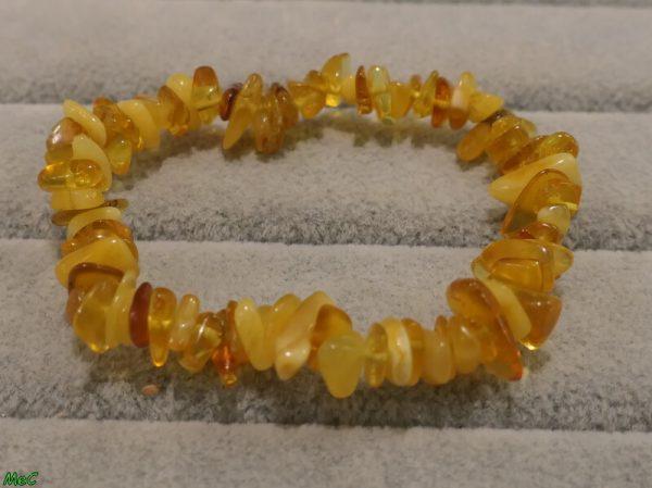Bracelet ambre jaune Minéraux et Cristaux