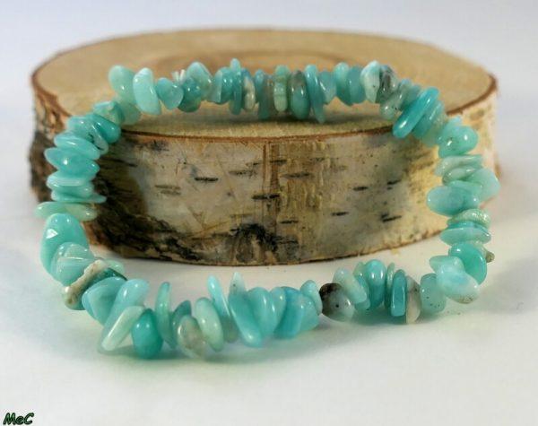 Bracelet baroque amazonite Minéraux et Cristaux