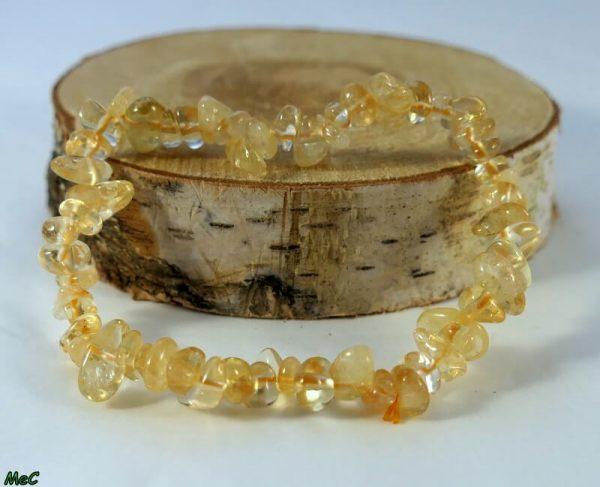 Bracelet baroque citrine Minéraux et Cristaux