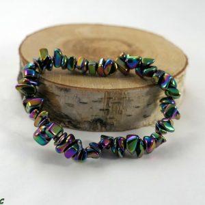 Bracelet baroque hématite titane Minéraux et Cristaux
