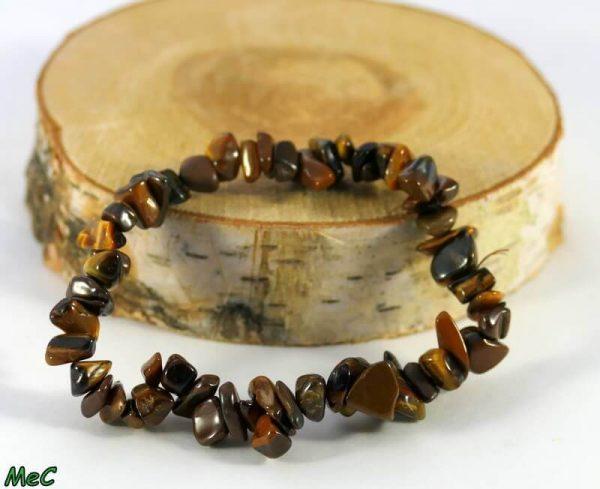Bracelet baroque oeil de tigre Minéraux et Cristaux