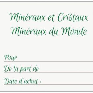 Carte cadeau Minéraux et Cristaux 1