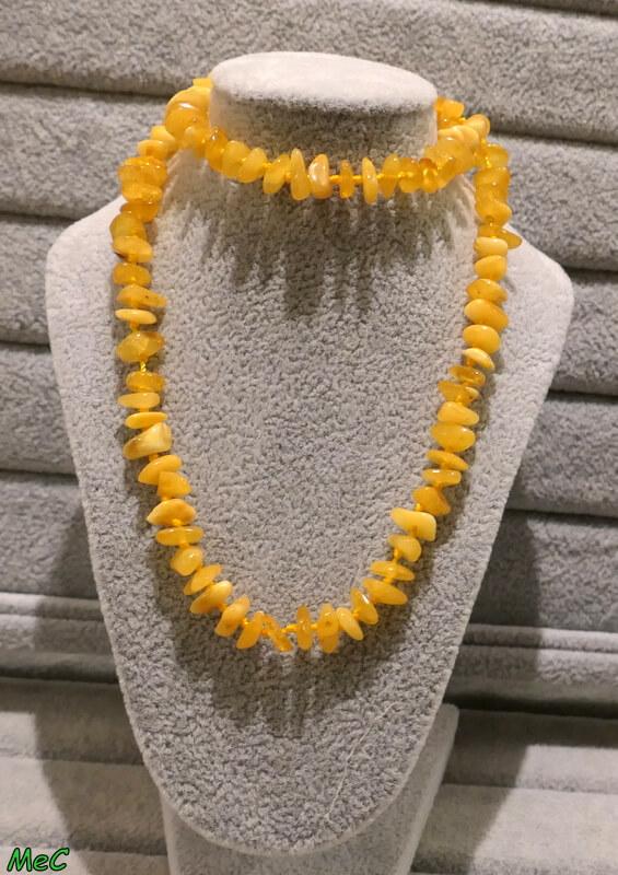 Collier ambre jaune Minéraux et Cristaux