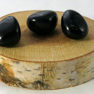 Obsidienne noire pierre roulée Minéraux et Cristaux